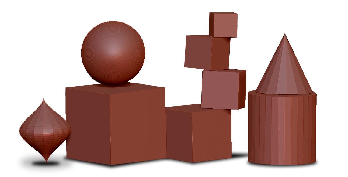 Podstawowe kształty w programie Zbrush