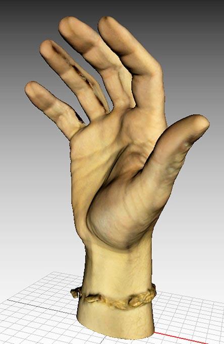Ręka - skan 3D