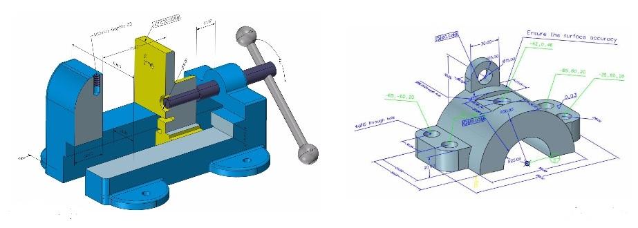 Dodawanie wymirów w programie CADbro