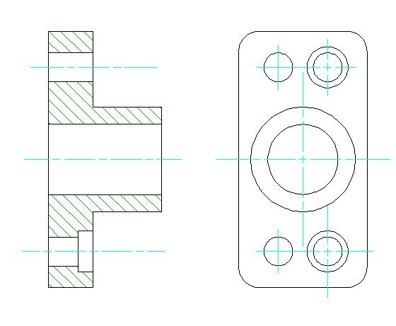 ZWCAD Mechanical funkcja lini środkowej