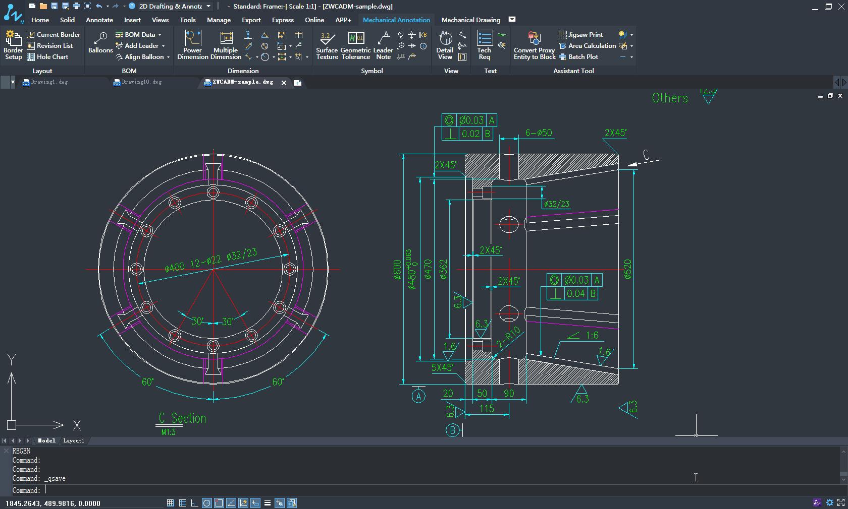 Kompatybilność programu ZWCAD Mechanical z innymi programami CAD