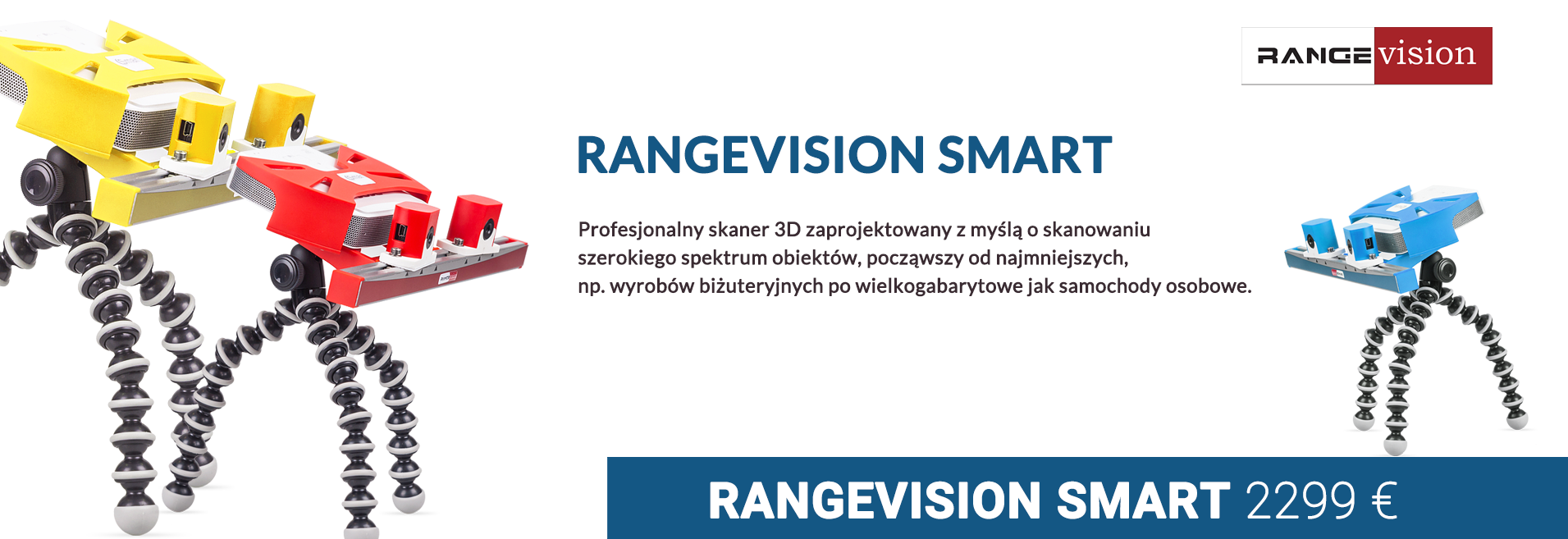 RangeVision SMART - Skanery 3D