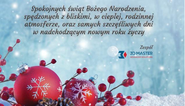 życzenia Świąteczno-Noworoczne 3D Master