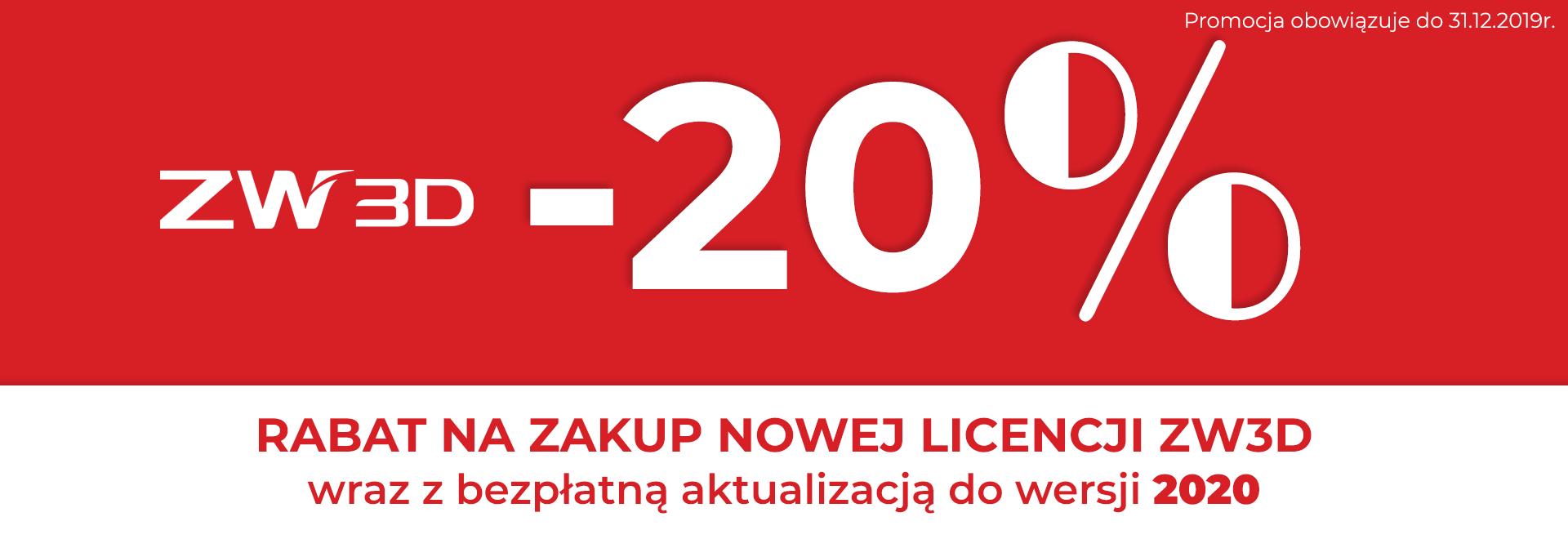 program do cad cam - zw3d promocja - 20%