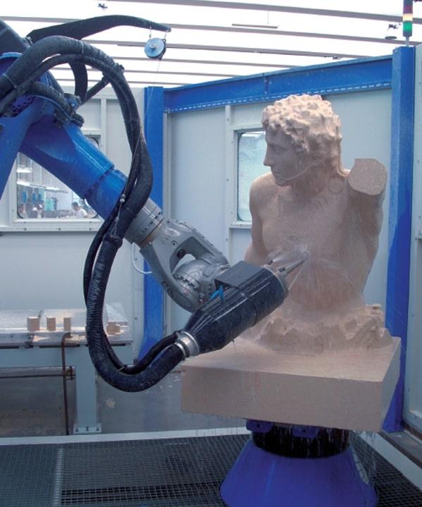 frezowanie robotem w kamieniu