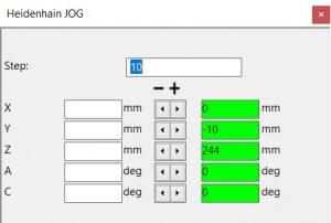 Symulacja JOG dla CNC w Eurece